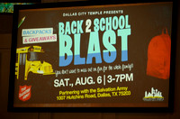 August 6, 2016 Back 2 School Blast at The Salvation Army